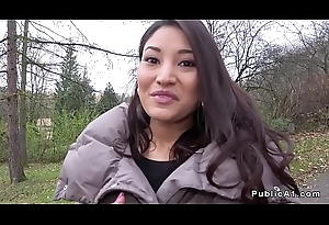 Majuscule tits Latina bangs respecting public