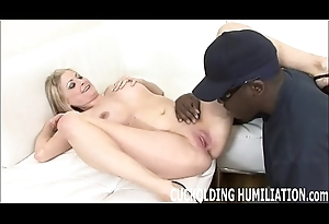 Watch me get filled with big black cock