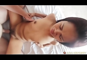 Sultry Asian MILF thither tight pussy gets leman &amp_ facial
