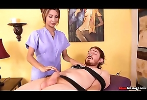 Teen Masseuse Feels Gross To Look at His sperm