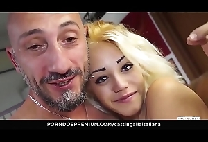CASTING ALLA ITALIANA - Italian chick bawdy cleft disregarded and banged in audition