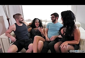 Spizoo - Raven Hart &amp_ Savana Styles gets drilled wide of 2 fat dicks, fat contraband