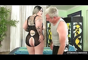 Fat nuisance Nova Jade receives a carnal knowledge massage
