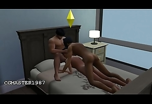 CG/SIMS - Latin Twink Fucking Unconcerned Troika