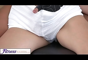 Fitness Rooms Big sincere tits Japanese and French MILF glum gym workout