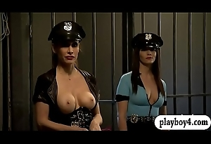 Two bonny women fourway in the jailcell