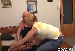 Teen'_s bald leather pie drilled hard