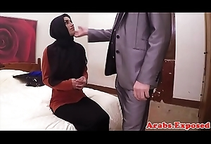 Hijab Arab babe takes initial for sexual congress POV