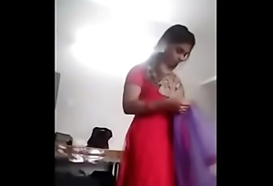 South Indian girl clothing change