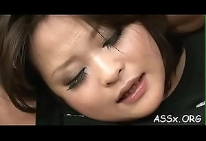 Anal toying involving bottomless doggy style