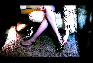 LADY  IN SEDUCTIVE NYLONS IS Empirical Hard by VOYEUR